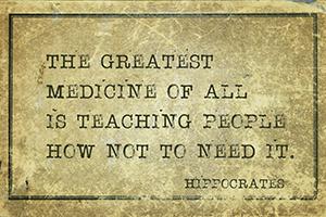 Spreuk Hippocrates